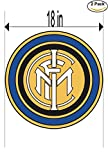Inter Milano Italy Soccer Football Club FC 2 Stickers Car Bumper Window Sticker Decal Huge 18 inches