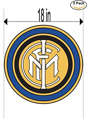 Inter Milano Italy Soccer Football Club FC 2 Stickers Car Bumper Window Sticker Decal Huge 18 inches by CanvasByLam