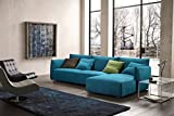 Creative Furniture Skylar Sectional Right Facing Chaise, Teal For Sale