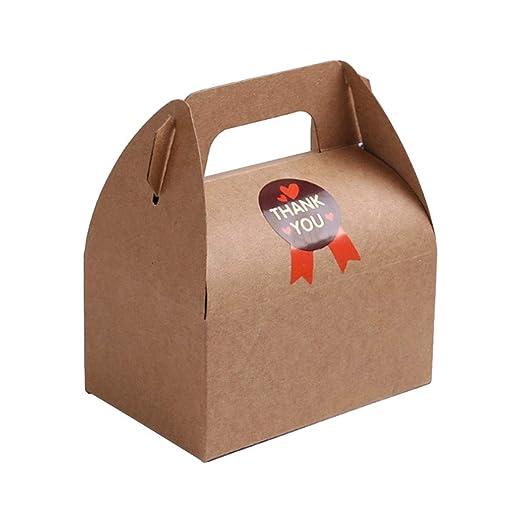 Daycount - Juego de 10 cajas de regalo, cajas de papel kraft ...
