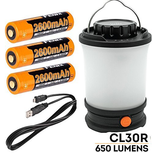 Fenix CL30R LED Camping Lantern 650 Lumen with 3 X 18650 rechargeable batteries and LegionArms USB charging cord by Fenix (Image #8)