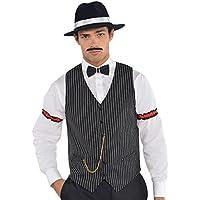 Amscan Roaring 20's Gangster Vest Men's Pary, Black