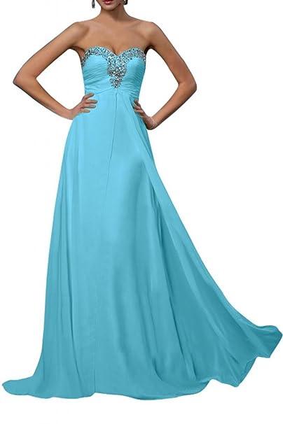 Gorgeous Novia 2016 corazones Empire Noche Vestido de fiesta vestidos de novia de dama Azul azul