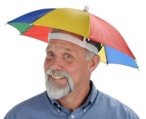 Beach Costumes (Umbrella Hat Outdoor Large double-deck Cycling Fishing Hiking Beach Camping Women Men Kid Sunshade Sunny Rainy anti-UV Umbrella Cap (Rainbow))