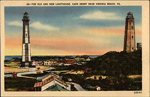 Postcard Old Lighthouse (The Old and New Lighthouse Cape Henry, Virginia Original Vintage Postcard)