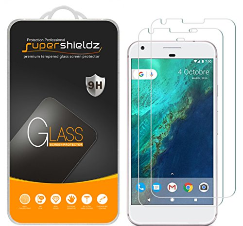 [2-Pack] Supershieldz for Google Pixel Tempered Glass Screen Protector, Anti-Scratch, Anti-Fingerprint, Lifetime Replacement
