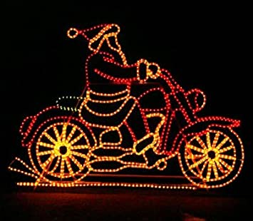 Amazon.com: Wintergreen Lighting Outdoor Santa Decorations – Santa ...