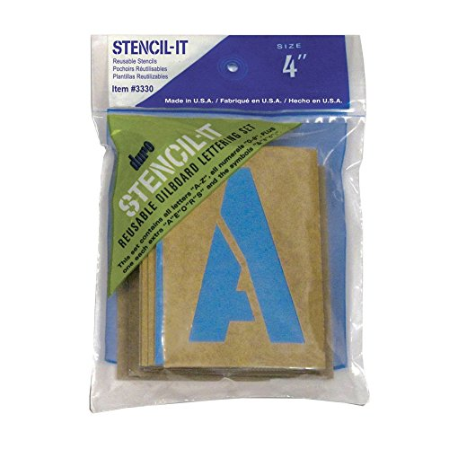 Duro by Graphic Products Stencil-It Oil Board Stencil Set, (Stencil 4 Signs)