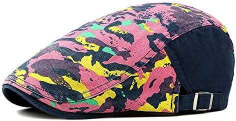 野球帽 キャスケット メンズ ハット ゴルフ 綿 調整可能 ソフト 迷彩 鳥打帽 55-62cm LWQJP (Color : 2, Size : Free size)