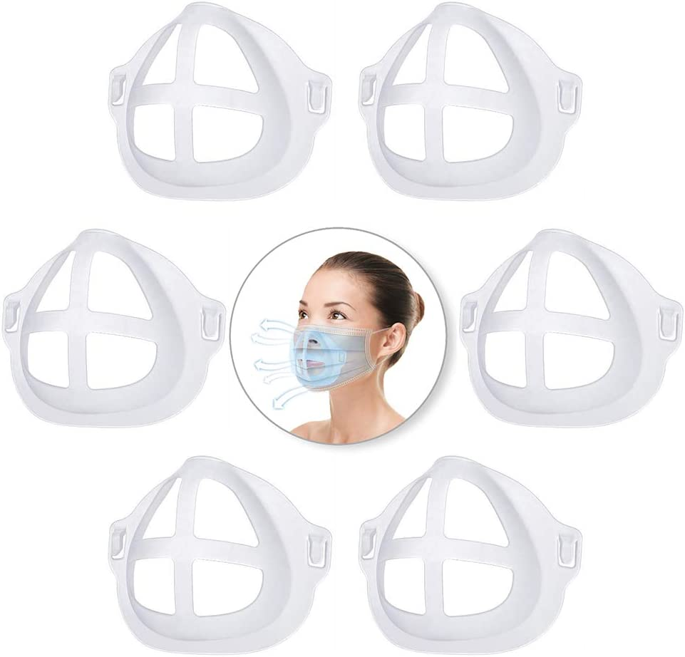 LW&GG Nose Pads Lipstick Protection Bracket Internal Protective Support Tailored for Nose and Mouth to Increase Breathing Space Can Be Reused (White)