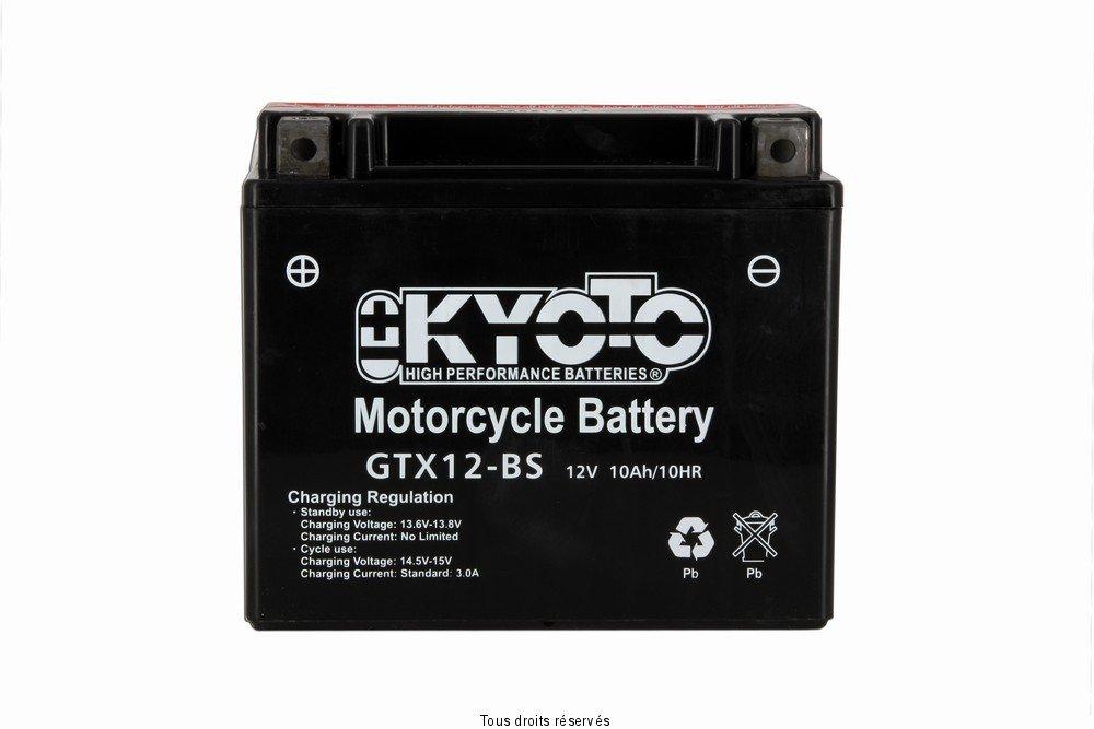 Kyoto - Batería moto YTX12-BS / GTX12-BS 12V 10Ah: Amazon.es: Coche y moto