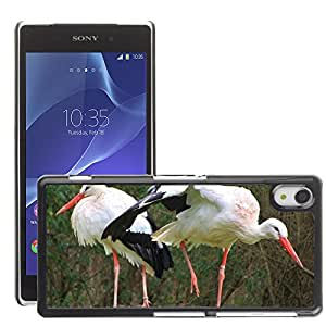 Super Stella Slim PC Hard Case Cover Skin Armor Shell Protection // M00106460 Storks Birds Animals Rattle Stork // Sony Xepria Z2 L50W