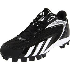 adidas Men's Hotstreak Mid Baseball Cleat,Black/Running White/Black/Metallic Silver,13 D US
