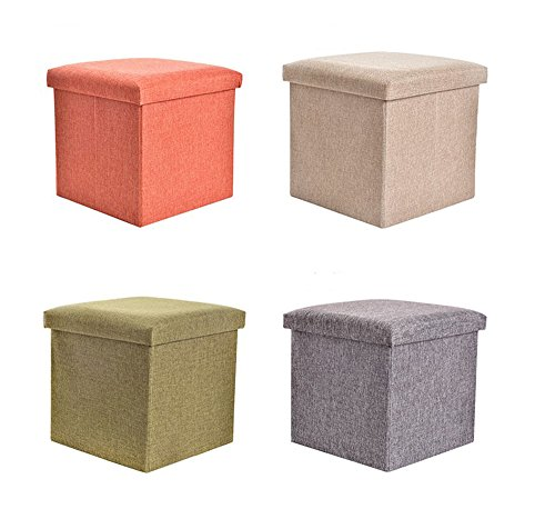 KINGSUNG Foldable Storage Organiser&Desk Cotton Linen Home Decor Books Toys Storage Box Bedroom Sofa(Color Random) by KINGSUNG