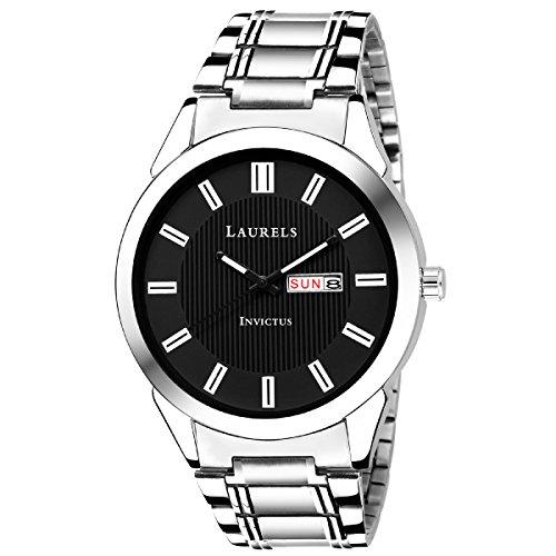 Laurels Invictus Day Date Men #39;s Wrist Watch