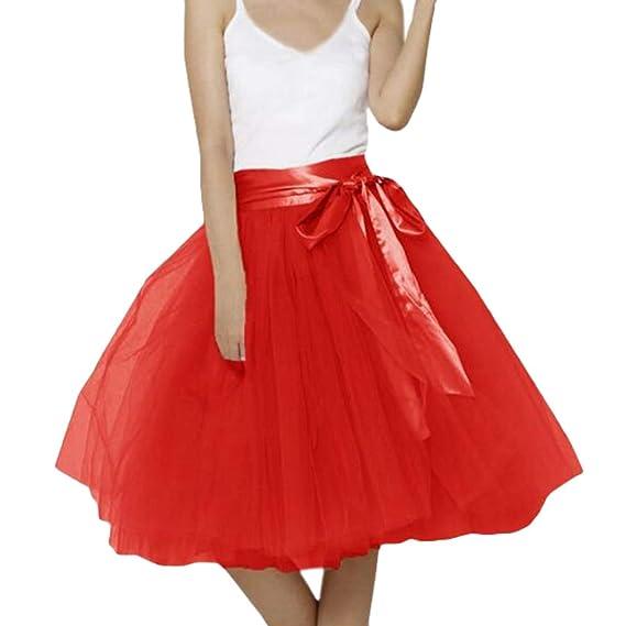 hibote Tutu Midi Faldas Tul Mujer 7 Capas Enagua Ballet Underskirt ...