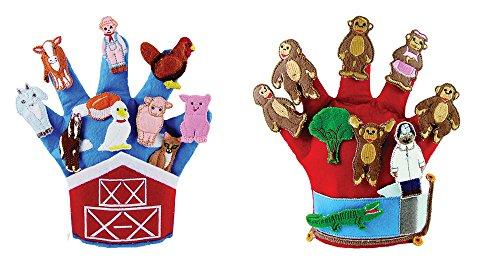 Becker's School Supplies Storytelling Glove Puppets Set, (Set of 2)