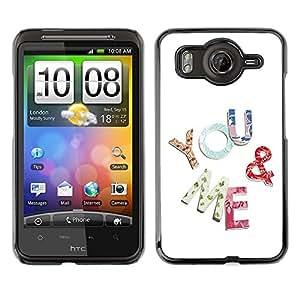 Dragon Case - FOR HTC G10 - you and me - Caja protectora de pl??stico duro de la cubierta Dise?¡Ào Slim Fit
