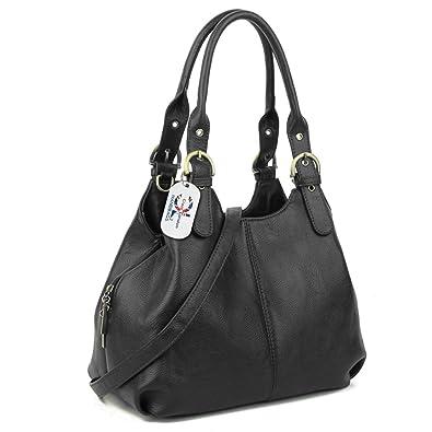 c0b3bcbfef Craze London Multiple Pockets Medium Size Hobo Handbag Long Strap Shoulder  Bag Cross body bag for
