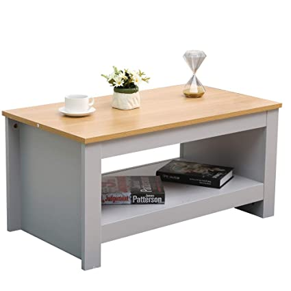 Cf Furniture Coffee Table Small Coffee Table Side Table With Shelf