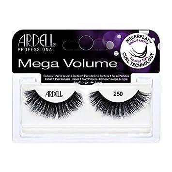 0bf1cd3c8ec Amazon.com : (3 Pack) ARDELL Mega Volume 250 Black : Beauty