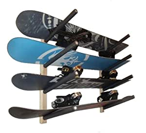 Snowboard  Wall Rack Mount -- Holds 4 Boards