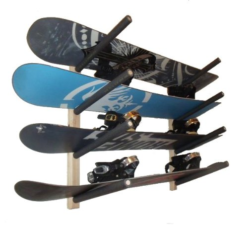 Snowboard  Wall Rack Mount -- Holds 4 Boards by Pro Board Racks
