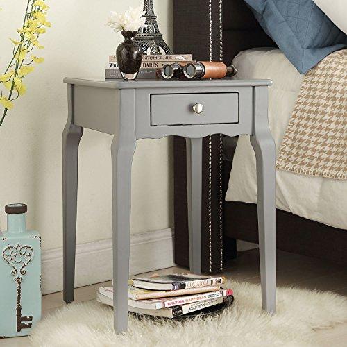 INSPIRE Q Daniella 1-drawer Wood Storage Accent Side Table (grey)