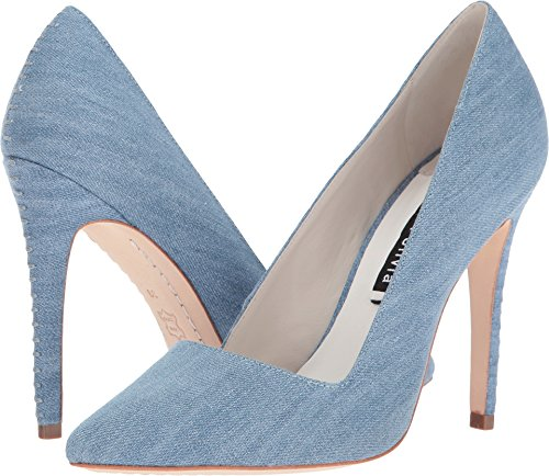 alice + olivia Women's Dina Blue Denim Shoe