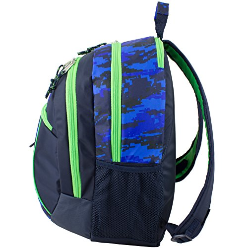 D&A 18'' Blue Green Multi Camouflage Pattern Backpack, Beautiful Camo Army Love by D&A (Image #3)