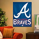 "MLB Atlanta Braves 51689915 Vertical Flag, 27"" x 37"", Black"
