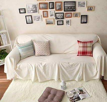 Desconocido Estilo Vintage Blanco algodón Love Asientos sofá Cubre ...