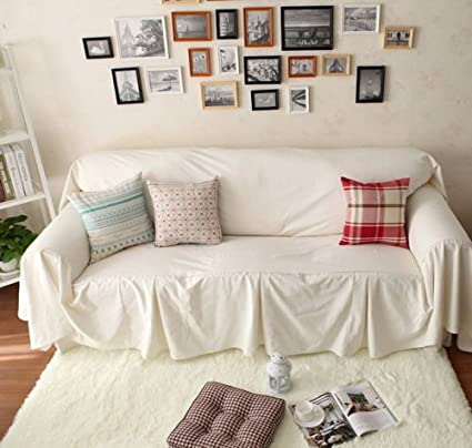 Amazon.com: Vintage Style White Cotton Love Seats Couch ...