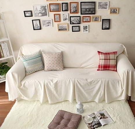 Desconocido Estilo Vintage Blanco algodón Love Asientos sofá ...