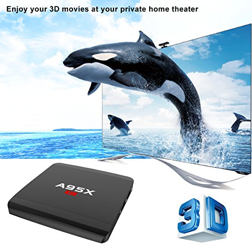 Android 7.1 TV BOX Amlogic S905W Quad Core 1GB/8GB 64bit TV BOX support Wifi 2.4GHz HDMI 2.0 SPDIF H.265 4K Video 3D by A95X (Image #3)