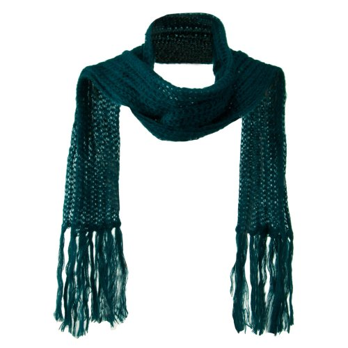 Ladies Mohair Knit Scarf (Ladies Mohair Knit Scarf - Teal OSFM)