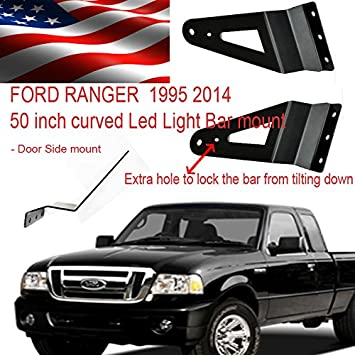 Amazon ford ranger 1994 2016 led light bar brackets for 50 ford ranger 1994 2016 led light bar brackets for 50 inch curved side mount mozeypictures Gallery