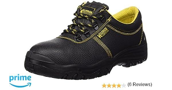Wolfpack 15018130 Zapatos de Seguridad de Piel, Talla 42, Color Negro: Amazon.es: Bricolaje y herramientas