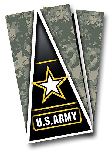 U.S. Army Star Digital CAMO CORNHOLE WRAP SET Vinyl Board DECAL Baggo Bag Toss Boards MADE IN the USA