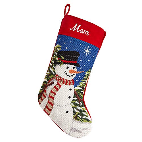 Personal Creations - Personalized Gifts Needlepoint Stocking - Snowman ()