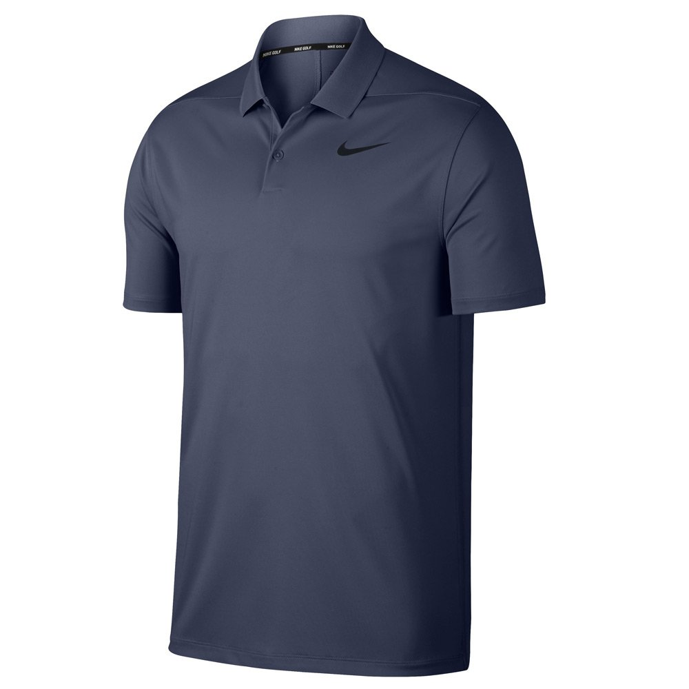 Nike Dri Fit Victory Solid LC Golf Polo 2019 Light Carbon/Black Large by Nike