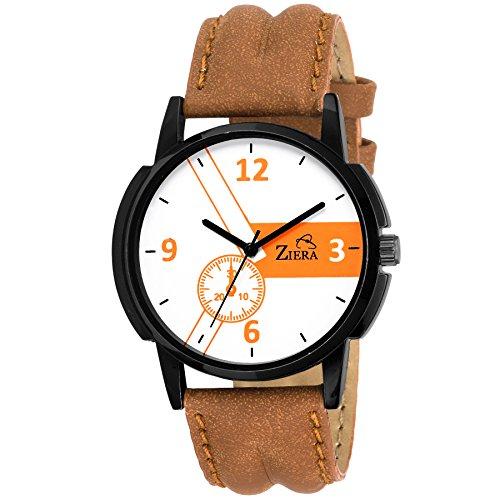 Ziera ZR7028 Stylish Pattern Imperial Brown Analog Watch   for Men