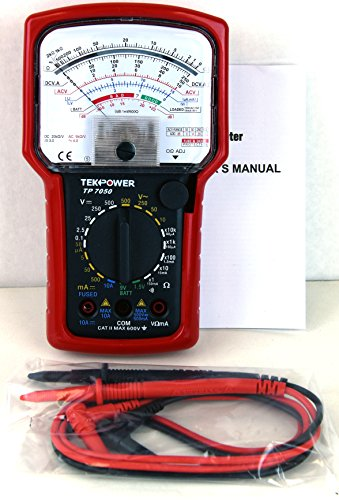 Price comparison product image Tekpower TP7050 7-Function 20-Range High Accuracy Analog Multimeter with Battery Tester