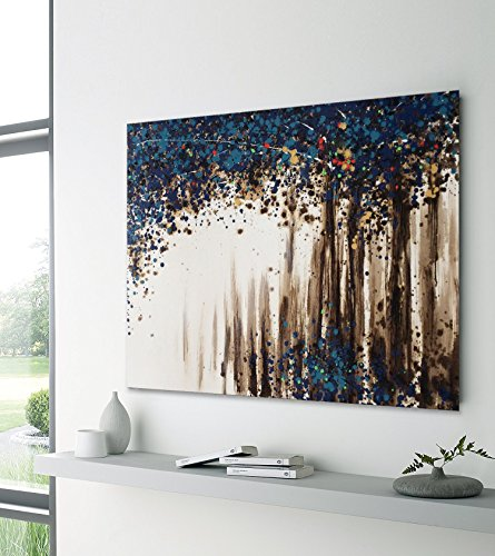 UAC WALL ARTS Watercolor Woods Hand Painted Canvas Wall Art