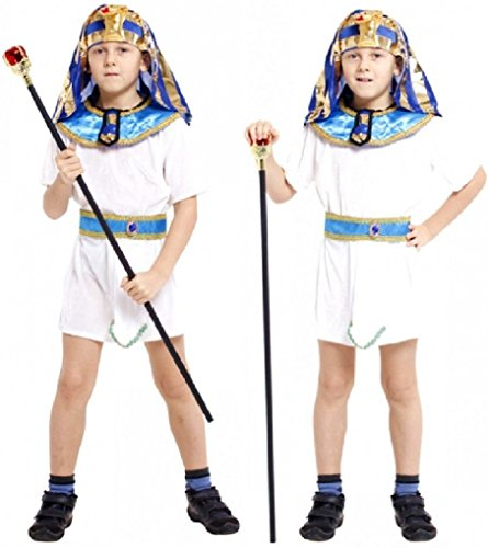 [Fancy Festival Children Halloween Cosplay Pharaoh Prince Costumes] (Adult Egyptian Prince Costumes)