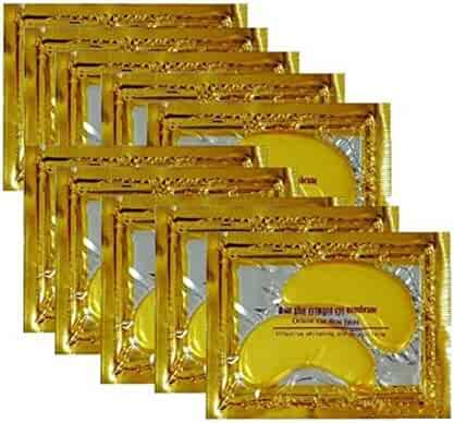 ONE1X 10pack Crystal 24K Gold Collagen Eye Mask - Anti Aging, Wrinkles, Moisturising, Blemishes, Firming, Toning, Dark Circles, Smoothing Skin, Natural Lift