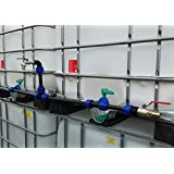 IBC Verbindungsset für 2 Tanks mit Schwanenhals Auslaufhahn + Pumpenanschluß