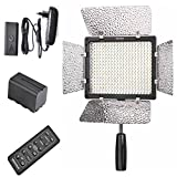 Yongnuo Yn-300 Ii Led Video Light with 1 Ac Power Adapter and Battery 4400mah for Nikon D7100 D7000 D5300 D5200 D5100 D5000 D3300 D3200 D3100 D3000 Camera SLR Dslr Illumination Lamp Camcorder