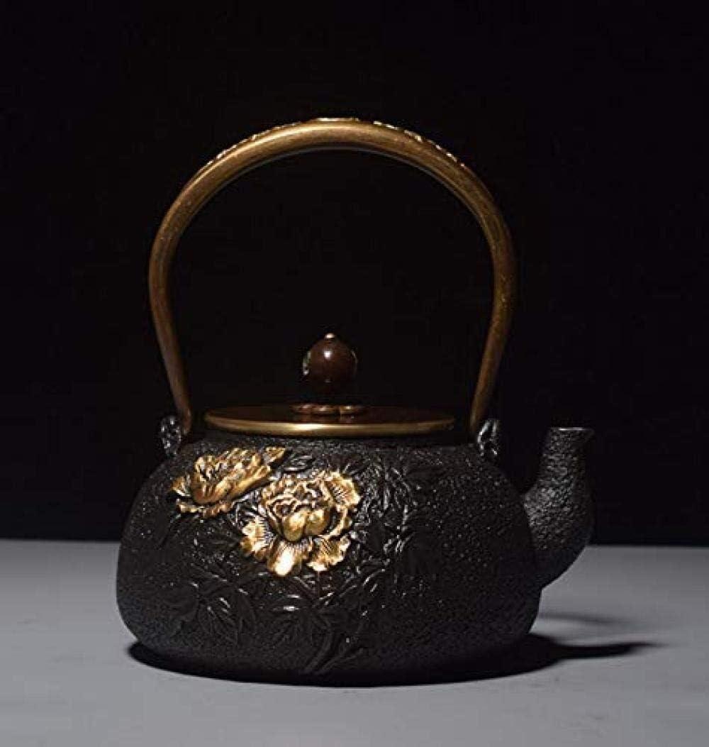 ZJN-JN キントー ティーポット 高級感 おしゃれ プレゼント お茶セットお茶ポット鋳鉄ティーポット茶ポット鉄ティーポットはアイアン手作りの鉄鍋鋳鉄ティーポットは茶アイアンケトルを煮ESE 贈り物