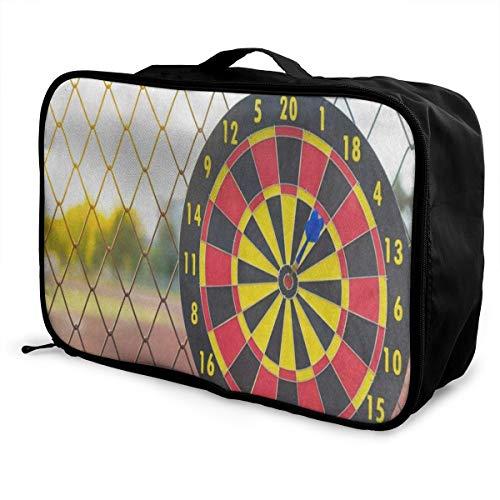 Travel Bags Blue Arrow Dartboard Portable Storage Trendy Trolley Handle Luggage Bag ()
